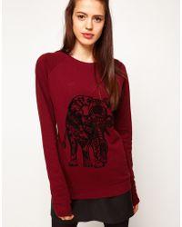 ASOS Collection | Asos Sweatshirt with Elephant Flocking | Lyst