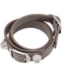 Balenciaga  Giant Silver Bracelet Double Tour Rose Thulian - Lyst