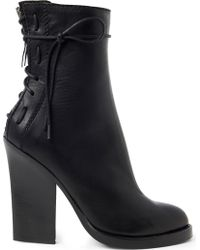 Haider Ackermann Highst Leather Ankle Boots - Black