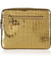 Marc Jacobs Cosmic Croceffect Metallic Leather Ipad Case