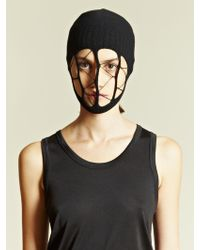 Rick Owens String Veil Mask Black