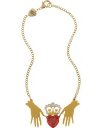 Tatty Devine - Claddagh Large Ring Necklace - Lyst