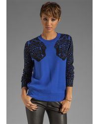 Torn By Ronny Kobo Elsa Mirrored Tigers Sweater - Lyst