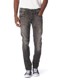 True Religion Ricky Straight Leg Jeans Body Rinse - Black