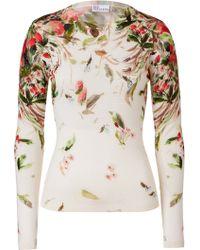 RED Valentino Cream Printed Fleece Wool Pullover - Lyst