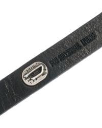 DIESEL - Leather Bracelet - Lyst