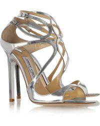 Jimmy Choo Lance Metallic Leather Sandals - Lyst
