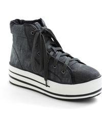ModCloth - Kickin It Complex Sneaker in Distressed Black - Lyst