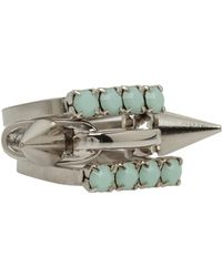 Joomi Lim Mint Amp Crystal Spike Ring - Metallic