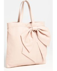 RED Valentino Bow Leather Tote - Lyst
