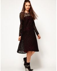 ASOS Collection  Lace Dress with Dropped Waist - Lyst