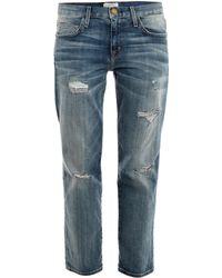 Current/Elliott The Boyfriend Low-Rise Jeans - Lyst