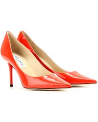 Jimmy Choo Agnes Patent Leather Pumps orange - Lyst