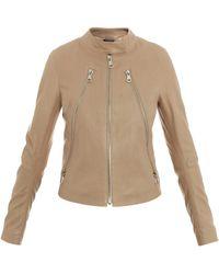 Maison Margiela Fivezip Leather Jacket - Lyst