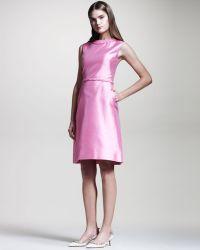Valentino Braiddetail Mikado Dress - Lyst