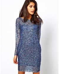 ASOS Collection Asos Shift Dress with Embellishment - Lyst