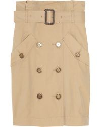 Burberry Brit - Trench Coat-inspired Cotton Midi Skirt - Lyst