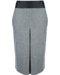 Giuliano Fujiwara High Waisted Pencil Skirt - Gray