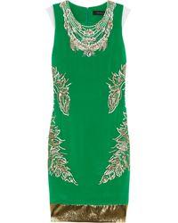 Thakoon Embellished Silkcrepe Dress - Lyst