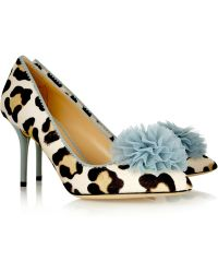 Charlotte Olympia Desirée Leopard-Print Calf Hair Pumps - Lyst