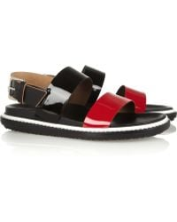 Marni Leather and Patent leather Sandals - Lyst
