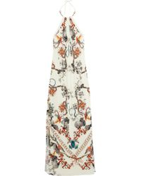 Roberto Cavalli Printed Crepejersey Gown - Lyst
