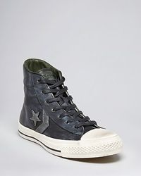 Converse By John Varvatos Usa Player Leather High Top Sneakers - Lyst