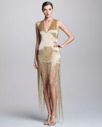 Naeem Khan Sequined Fringe Dress - Lyst