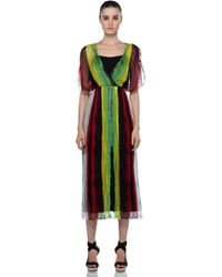 Alice + Olivia Celine Maxi Dolman Dress in Multi - Lyst