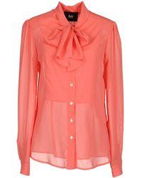 D&G Long Sleeve Shirt pink - Lyst