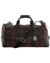 Alexander McQueen - Tartan Cotton Weekender Bag - Lyst