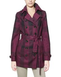 Burberry Brit Double Breasted Gabardine Trench Coat - Lyst