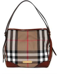 Burberry Small Canterbury Bridle House Check Bag - Lyst