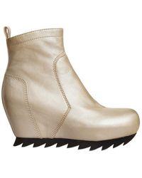 Camilla Skovgaard - 80Mm Calfskin Wedge Boots - Lyst