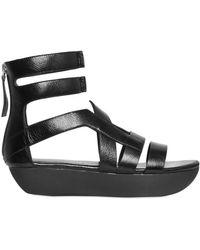 Camilla Skovgaard Brushed Leather Platform Sandals - Black