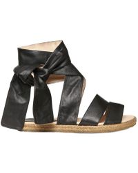 Chloé 10mm Nappa Leather and Rope Flats - Lyst