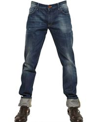 Dolce & Gabbana 18Cm Gold Washed Denim Slim Fit Jeans blue - Lyst