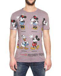 Dolce & Gabbana Mickey Mouse Cotton Rayon Jersey T-shirt - Lyst
