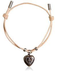 Dolce & Gabbana Waxed Strap & Metal Chain Bracelet - Lyst