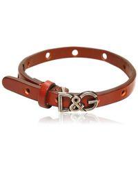 Dolce & Gabbana Logo Leather Bracelet - Lyst