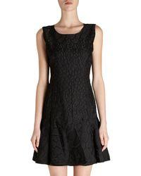 Fendi Sleeveless Textured Flare Dress - Lyst