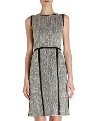 Fendi Tweed Sleeveless Crewneck Dress - Lyst