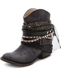 Freebird by Steven - Mezcal Wraparound Booties - Lyst