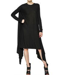 Gareth Pugh Long Sleeved Modal Jersey Long Dress - Lyst