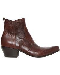 Gianni Barbato - Wrinkled Leather Low Boots - Lyst