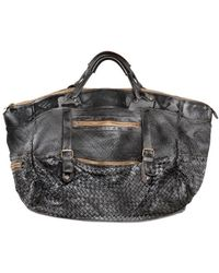 Giorgio Brato - Woven Washed Leather Weekend Bag - Lyst