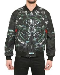 Givenchy Fighter Planes Reversible Nylon Jacket multicolor - Lyst