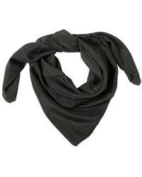 Lanvin - Polka Dot Printed Silk Bandana Scarf - Lyst