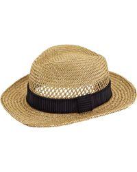 Lanvin Open Weave Straw Hat beige - Lyst