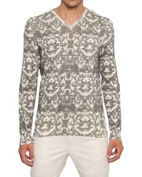 McQ by Alexander McQueen Bleached Fly Printed Cotton Sweater beige - Lyst